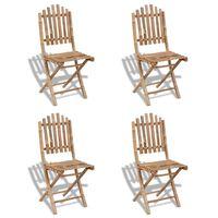 vidaXL Chaises pliables d'extérieur Bambou 4 pcs