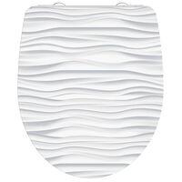 SCHÜTTE Siège de toilette avec fermeture en douceur WHITE WAVE Blanc