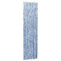 vidaXL Moustiquaire Bleu blanc et argenté 56x185 cm Chenille