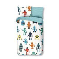 Good Morning Housse de couette pour enfants Robots 135x200 cm