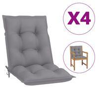 vidaXL Coussins de chaise de jardin 4 pcs Gris 100x50x7 cm