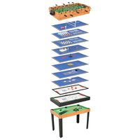 vidaXL Table de jeu multiple 15 en 1 121x61x82 cm Érable
