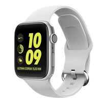 Bracelet Apple Watch silicone 38/40 - Vit