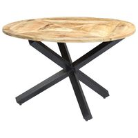 vidaXL Table de salle à manger Rond 120x76 cm Bois de manguier massif