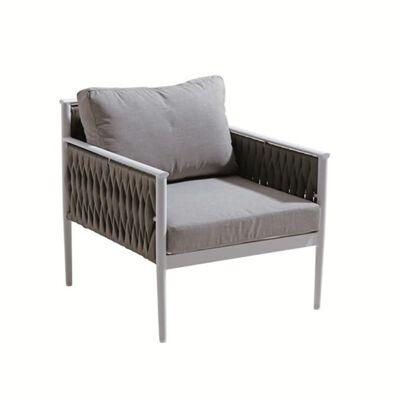 Fauteuil Bas De Jardin En Aluminium Gris, Et Textilène Tressé - Jiji