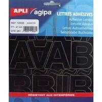 Alphabet et symboles Autocollant 47 x 31 mm Noir - APLI AGIPA