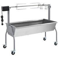 vidaXL Rôtissoire pour barbecue électrique Acier inoxydable