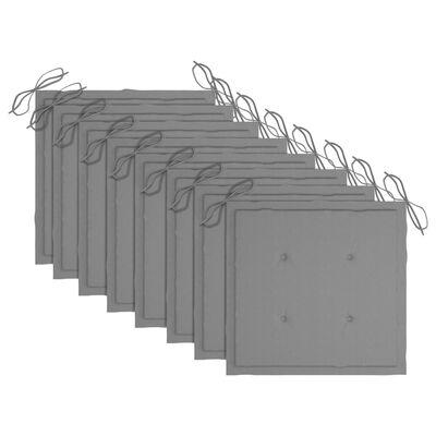 vidaXL Chaises Batavia avec coussins 8 pcs Bois de teck solide