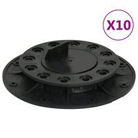 vidaXL Pieds de terrasse réglables 10 pcs 20-30 mm