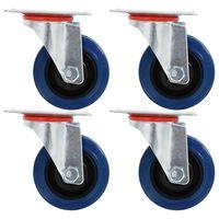 vidaXL Roulettes pivotantes 4 pcs 75 mm