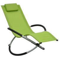 vidaXL Chaise longue pour enfants Acier Vert