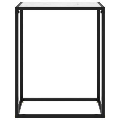 vidaXL Table console Blanc 60x35x75 cm Verre trempé