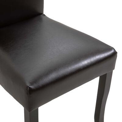 vidaXL Chaises de salle à manger 2 pcs Marron foncé Similicuir