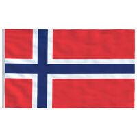 vidaXL Drapeau Norvège 90x150 cm