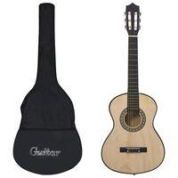 """vidaXL Guitare classique avec sac de débutants et enfants 1/2 34"""""""