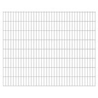 vidaXL Panneaux de clôture de jardin 2D 2,008x1,63 m 8 m total Argenté