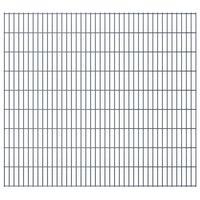 vidaXL Panneaux de clôture de jardin 2D 2,008x1,83 m 4 m total Gris