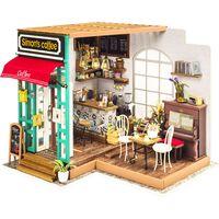 Robotime Kit miniature de bricolage Simon's Coffee avec lumière LED