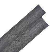vidaXL Planche de plancher PVC autoadhésif 5,02 m² 2 mm Noir et blanc