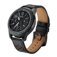 Bracelet Samsung Gear S3 Classic / S3 Frontier 22 mm Cuir - noir