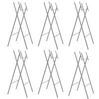 vidaXL Pieds de table pliable 6pcs Argenté 45x55x112cm Acier galvanisé