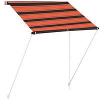 vidaXL Auvent rétractable 150x150 cm Orange et marron