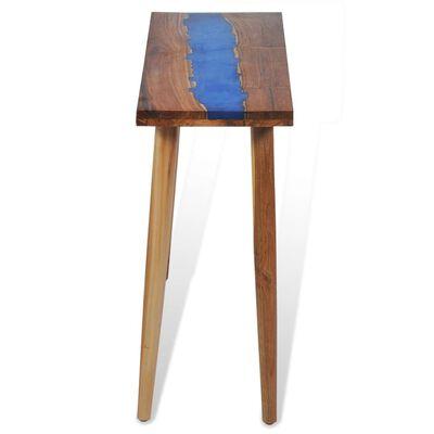 vidaXL Table console Teck Résine 100 x 35 x 75 cm
