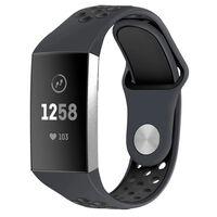 Bracelet Fitbit Charge 3 en silicone gris / noir - S