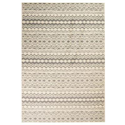 vidaXL Tapis moderne Design traditionnel 80 x 150 cm Beige/Gris