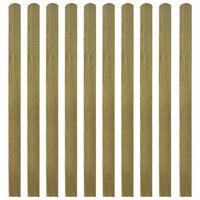 vidaXL Lattes imprégnées de clôture 20 pcs Bois 140 cm