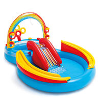 Intex Piscine gonflable Rainbow Ring Play Center 297x193x135cm 57453NP