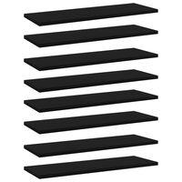 vidaXL Panneaux de bibliothèque 8 pcs Noir 60x20x1,5 cm Aggloméré
