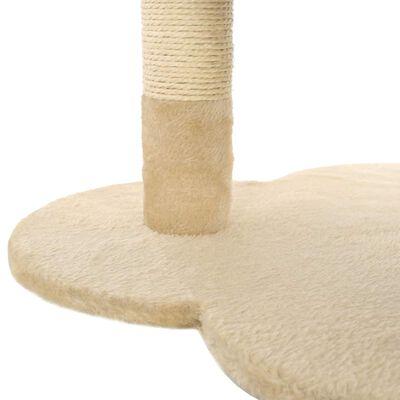 vidaXL Arbre à chat avec griffoir en sisal 50 cm Beige et Marron