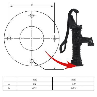 vidaXL Pompe à eau manuelle de jardin Fonte