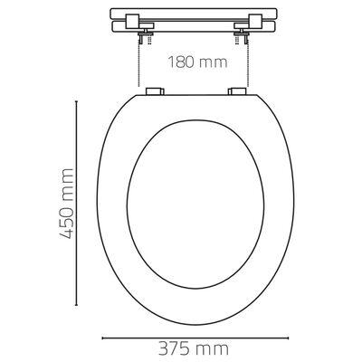 RIDDER Siège de toilette Chalet Marron