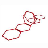 Pure2Improve 6 pcs Grille hexagonale d'agilité Rouge