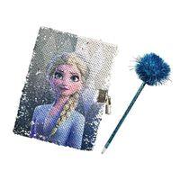 Frozen 2 / La Reine de Neiges 2, Journal avec un crayon - Paillettes