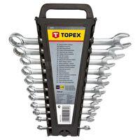 topex jeu de bagues / clés 6-22mm 12 pcs
