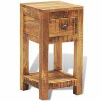 vidaXL Table de chevet avec 1 tiroir Bois massif de manguier