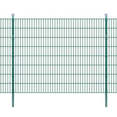 vidaXL Panneaux et poteaux de clôture 2D pour jardin 2008x1630 mm 28 m
