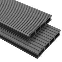 vidaXL Panneaux de terrasse avec accessoires WPC 40 m² 2,2 m Gris