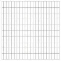 vidaXL Panneaux de clôture de jardin 2D 2,008x2,03m 46 m total Argenté