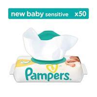 Pack 50 Lingettes Bébés Pampers New Baby Sensitive