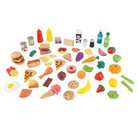 KidKraft Ensemble d'aliments de jeu 65 pcs