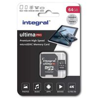 Carte micro SDHC/XC INTEGRAL INMSDX 64 G-100/70 V 30