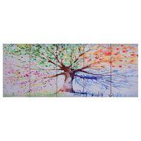 vidaXL Ensemble de tableau sur toile Arbre Multicolore 150x60 cm