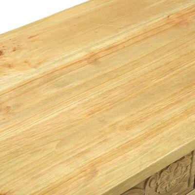 vidaXL Table console avec 2 tiroirs Marron sculpté 96x40x78 cm Bois