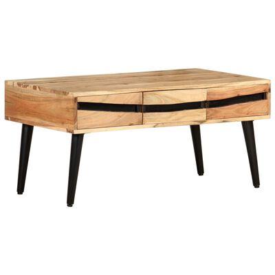 vidaXL Table basse 88x50x42 cm Bois d'acacia solide