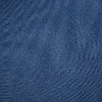 vidaXL Canapé à 3 places Tissu Bleu