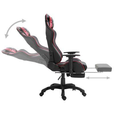 vidaXL Chaise de jeu avec repose-pied Rouge bordeaux Similicuir